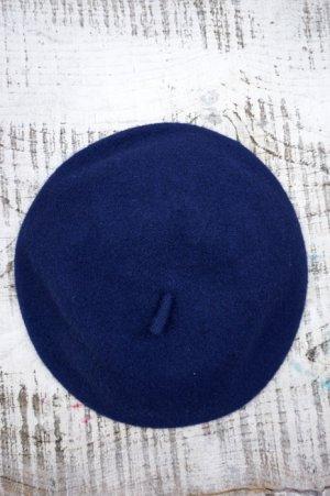 画像1: Béret Plain Navey (ウールベレー帽・ネイビー)