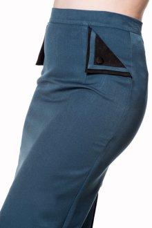 他の写真2: BANNED 50s STYLE PENCIL WIGGLE SKIRT TEAL(50s ビンテージスタイル ペンシルスカート ティールブルー)