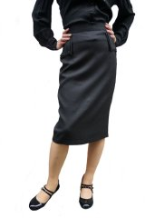 BANNED 50s STYLE PENCIL WIGGLE SKIRT BLACK(50s ビンテージスタイル ペンシルスカート ブラック)