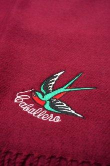 他の写真3: CABALLERO MUFFLER SWALLOW BORDEAUX (スワロー刺繍マフラー・ボルドー)