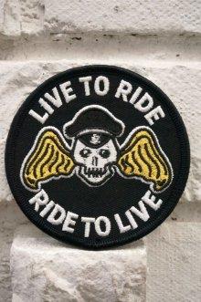 他の写真1: CABALLERO PATCH LIVE TO RIDE!(バイカー・モーターサイクル・スカルワッペン)
