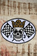 LUCKY13 PATCH SKULL FLAG(ラッキー13ワッペン)