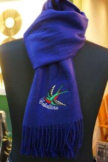 他の写真3: CABALLERO MUFFLER SWALLOW Dark blue (スワロー刺繍マフラー・ダークブルー)