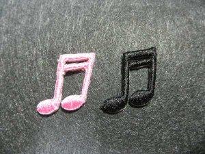 画像3: MINI PACH  DOUBLE NOTE 音符柄ミニワッペン・ DOUBLE NOTE・ピンク